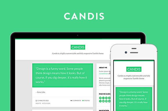 Candis Tumblr Theme ~ Tumblr Themes  Free Download