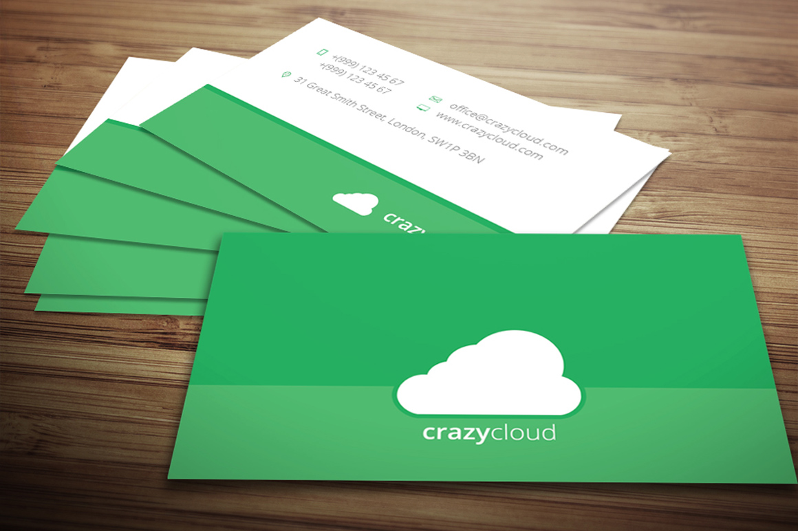 Flat Business Card ~ Business Card Templates on Creative ...