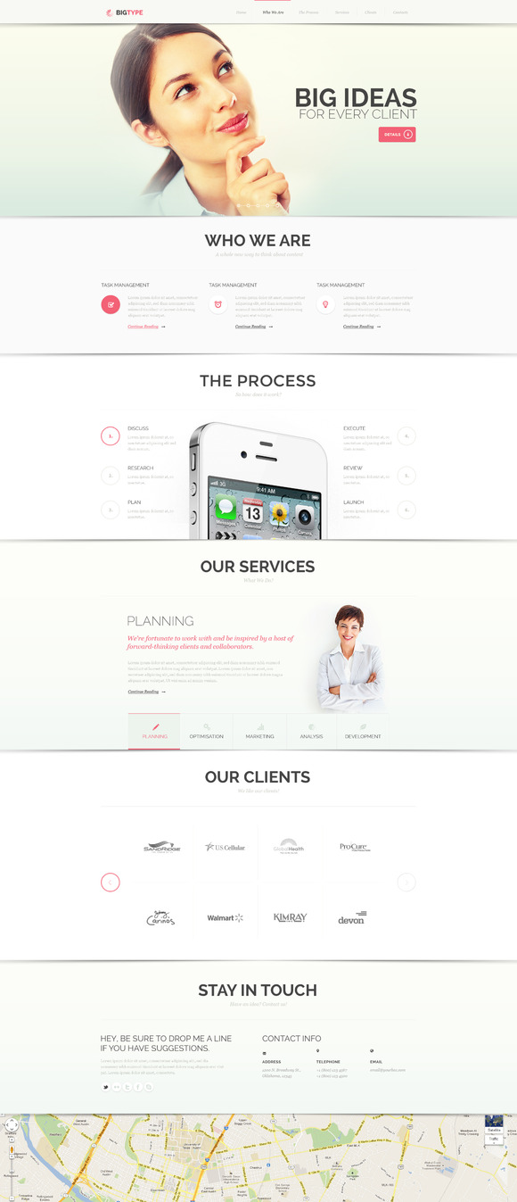 BigType PSD Template ~ Website Templates  Free Download
