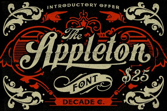 Appleton Font Poster
