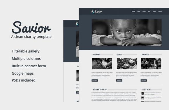 Savior Charity Theme ~ WordPress Themes  Free Download