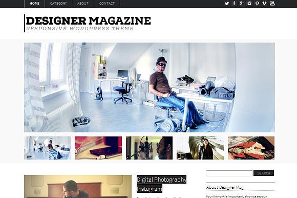 Designer Magazine WordPress Theme ~ WordPress Themes  Free Download