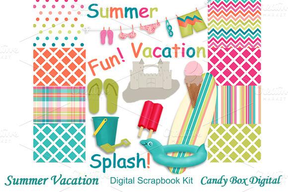 Summer Vacation Scrapbook Kit