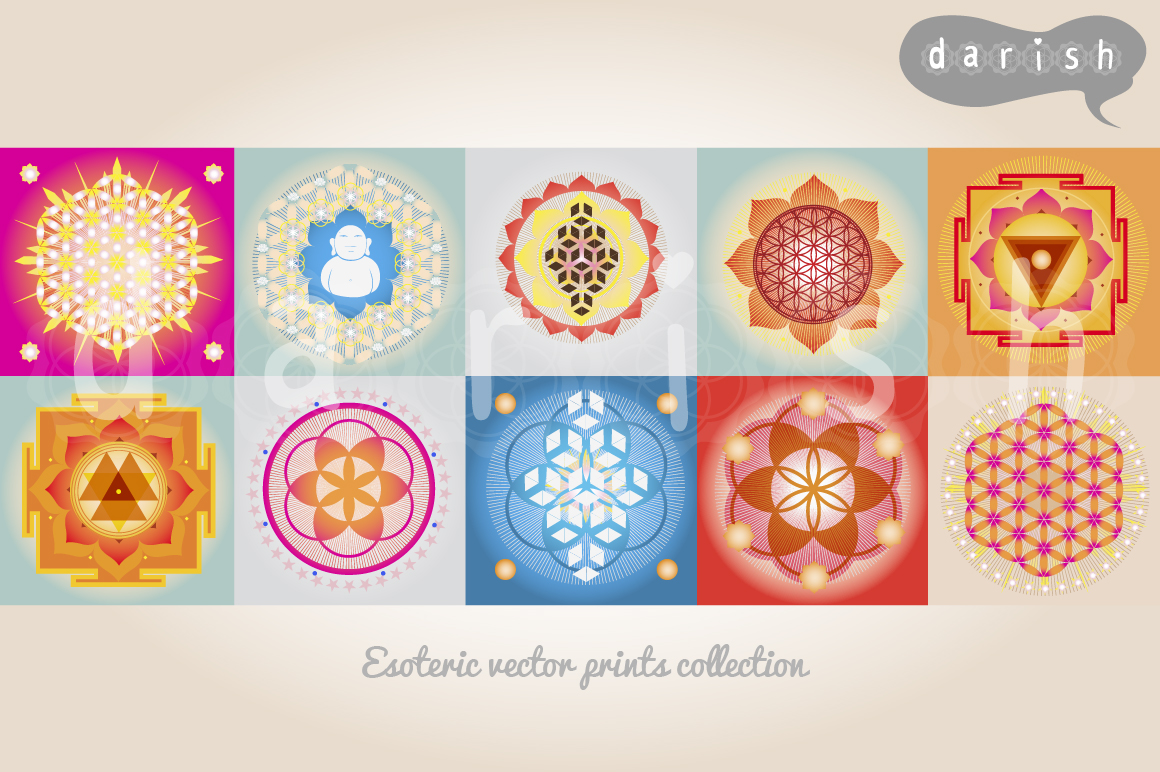 Sacred Geometry Cards Sacred Geometry Prints