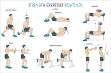 stretching exercises table  illustrations on creative market