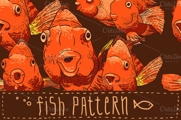 Seamless Fish Pattern And Frame