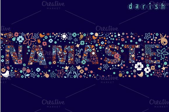 Floral Banner NAMASTE