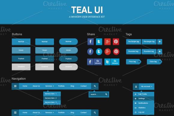 Teal UI Kit