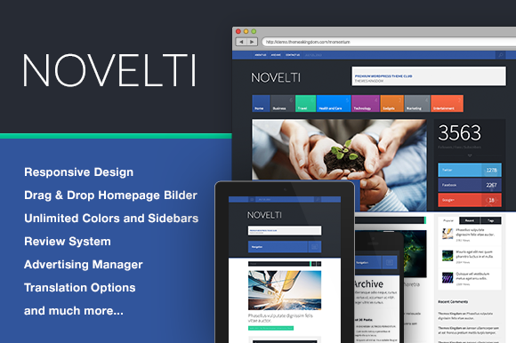 Novelti News WordPress Theme