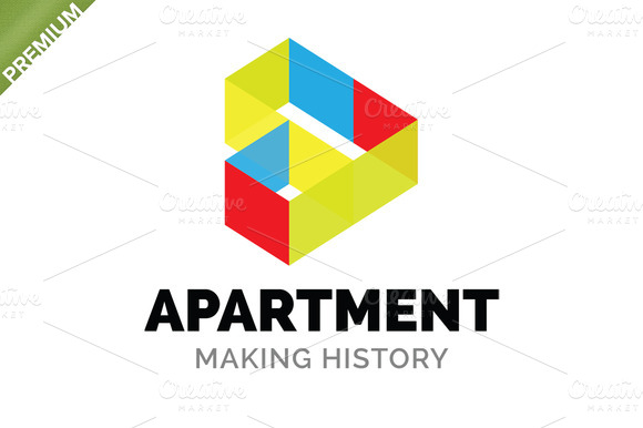 Apartment logo logo templates on creative market for Apartment web design