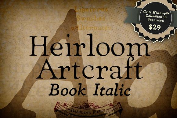 Book Italic Heirloom Artcraft