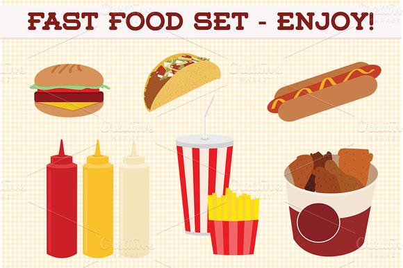 Web Elements Fast Food Set