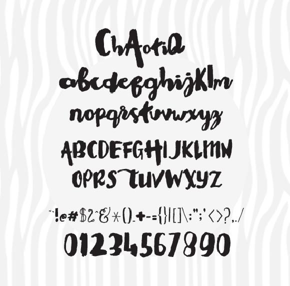 Chaotiq modern paint brush font script fonts on creative