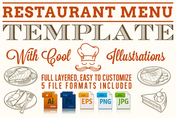 Editable restaurant menu template stationery templates for Restaurant letterhead templates free