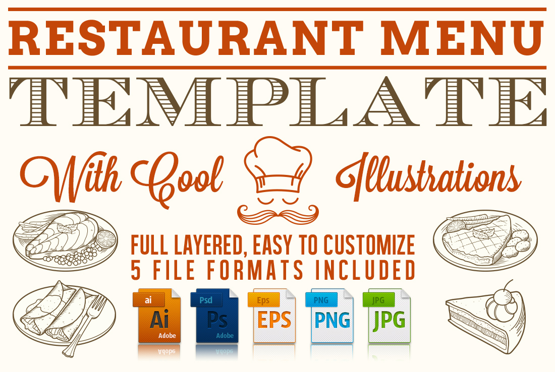 menue templates - editable restaurant menu template stationery templates