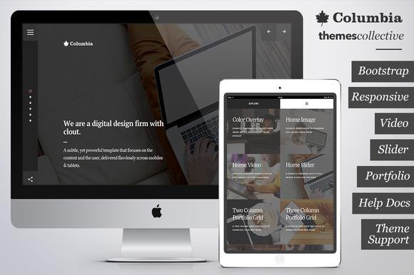 Columbia - Creative Bootstrap Theme - Websites - 1