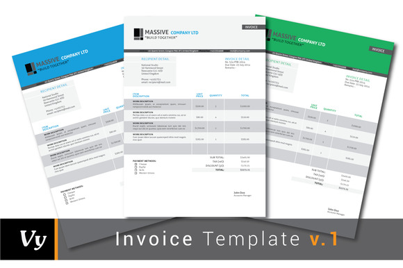 Download Invoice Template Html5 – Indesign Invoice Template