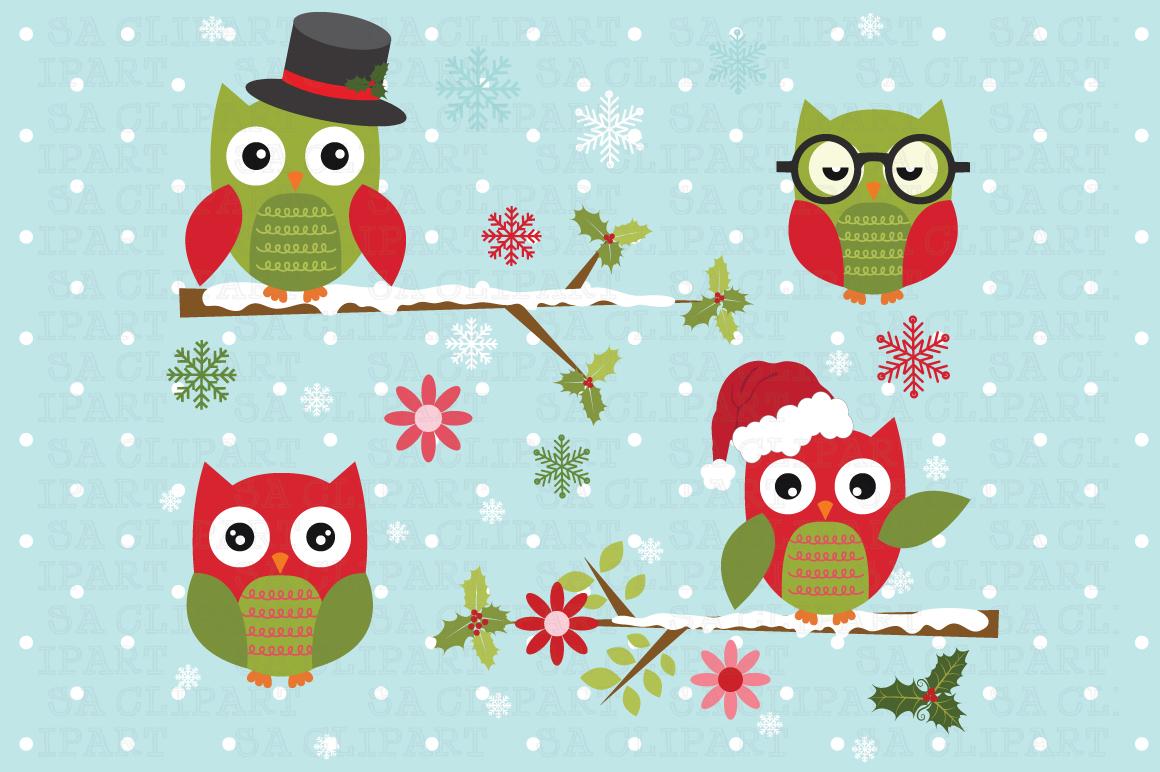 Christmas Owl ClipArt ~ Illustrations on Creative Market