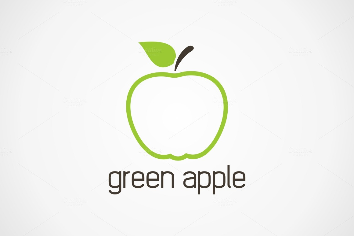 green apple ~ Logo Templates on Creative Market