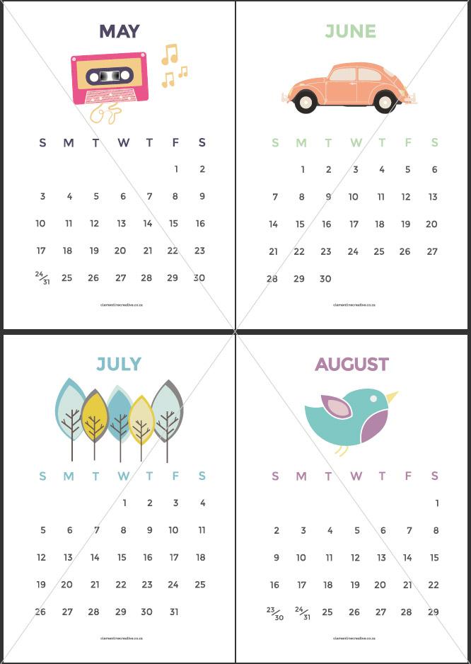 Cute Printable 2015 Calendar With Holidays/page/2 | Calendar Design ...