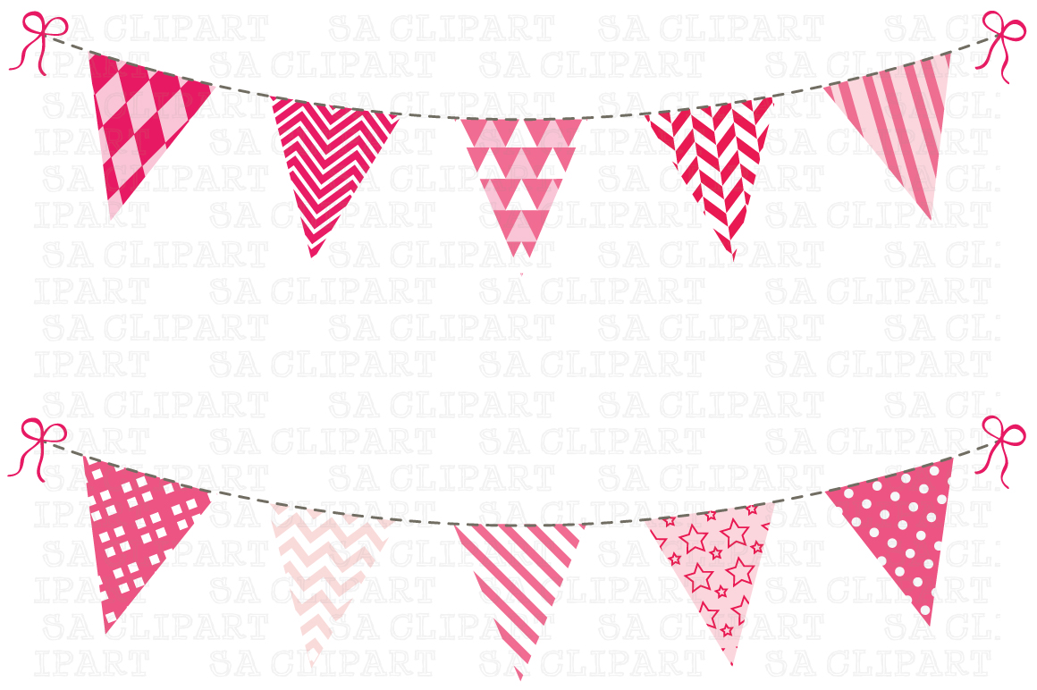 Bunting Banner Clipart ~ Illustrations on Creative Market