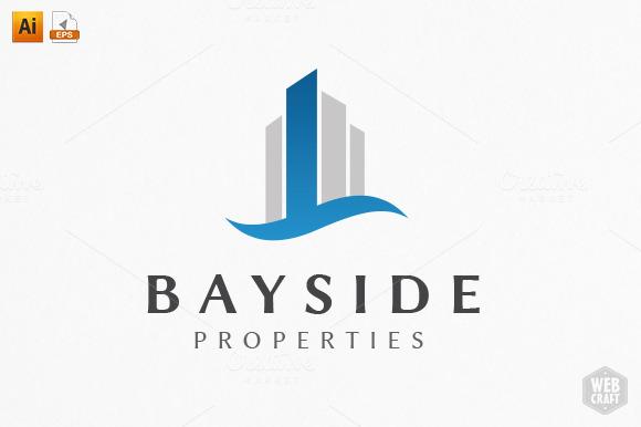 Bayside real estate logo template logo templates on for Apartment logo inspiration