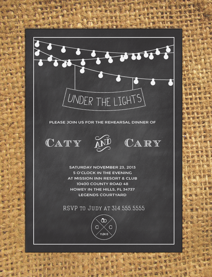 chalkboard wedding invitation invitation templates on creative market