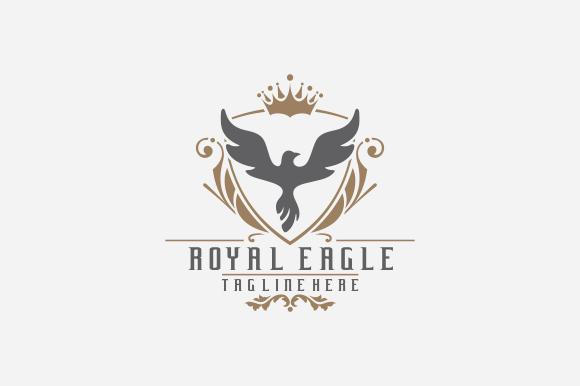 royal brand logo v4 logo templates on creative market. Black Bedroom Furniture Sets. Home Design Ideas
