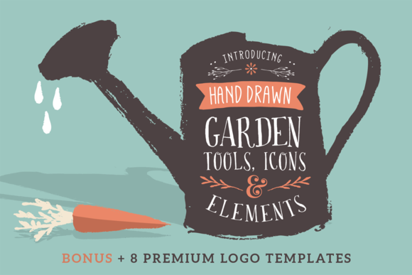Sketched icons, tools and elements - Illustrations - 1