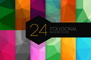24 Polygonal Backgrounds-Graphicriver中文最全的素材分享平台