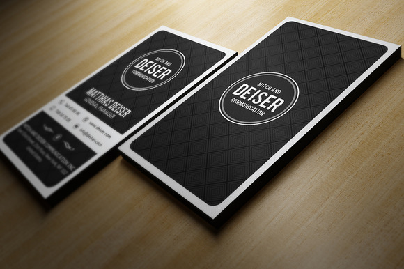 Calling Card Template Black And White Black And White Business Card