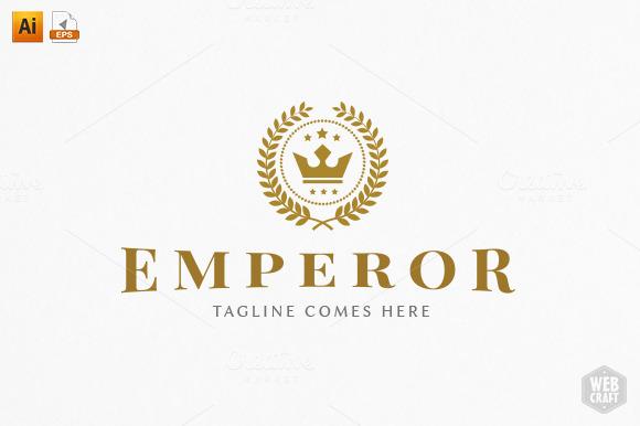 emperor royal logo template logo templates on creative market. Black Bedroom Furniture Sets. Home Design Ideas