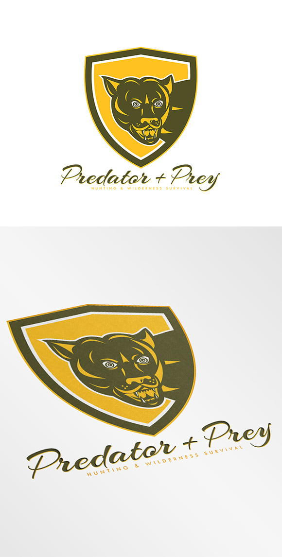Predator Hunting Logos Predator And Prey Hunting Logo