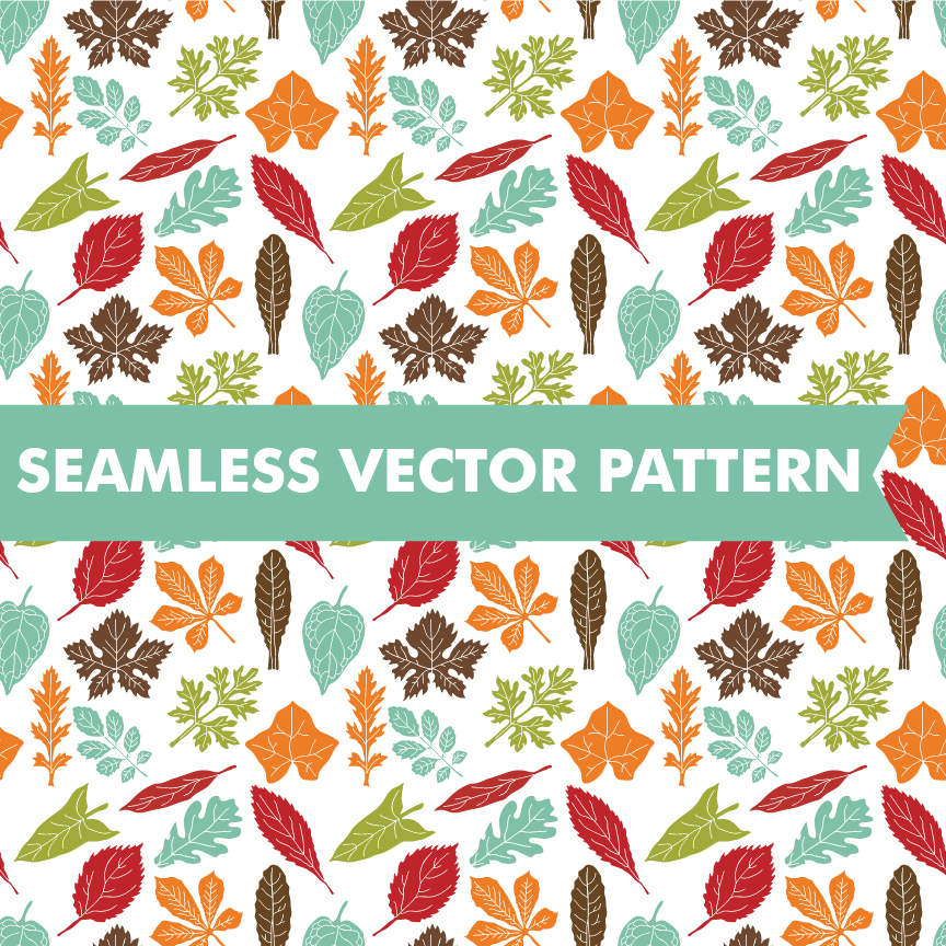 Fall Leaves Seamless Vector Pattern Patterns On Creative