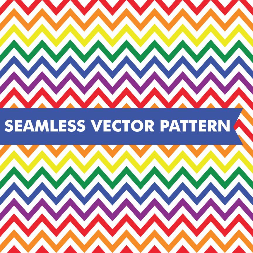 Rainbow Chevron Seamless Vector ~ Patterns on Creative Market