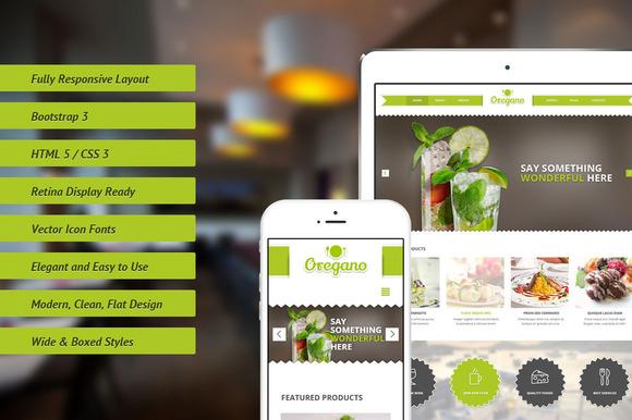 Oregano Responsive Bootstrap Theme - Bootstrap - 1