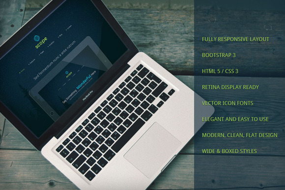Scope Responsive Bootstrap Theme - Bootstrap - 1