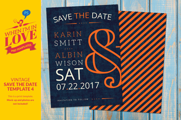 Vintage save the date template 4 invitation templates on for Free vintage save the date templates