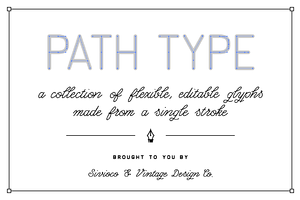 Path Type – Single Stroke Glyph Set