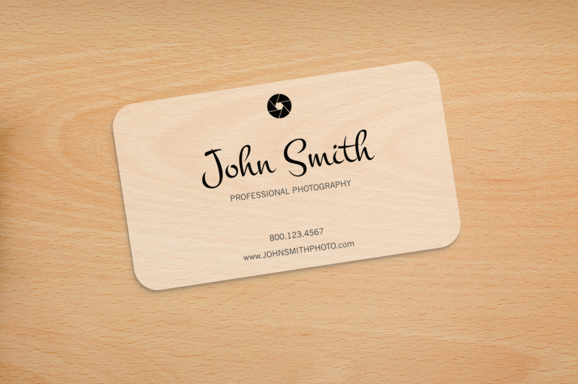 photography rounded corners card business card templates
