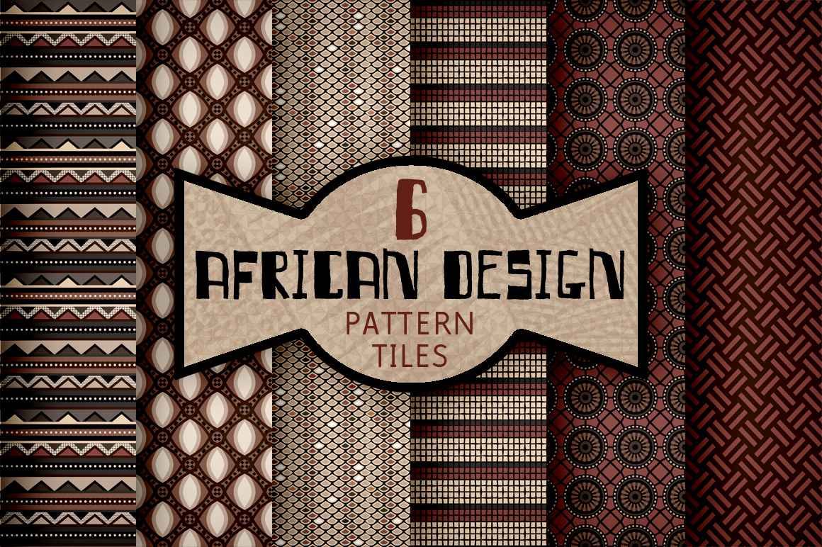 African Textile Design Pattern Tiles Patterns On