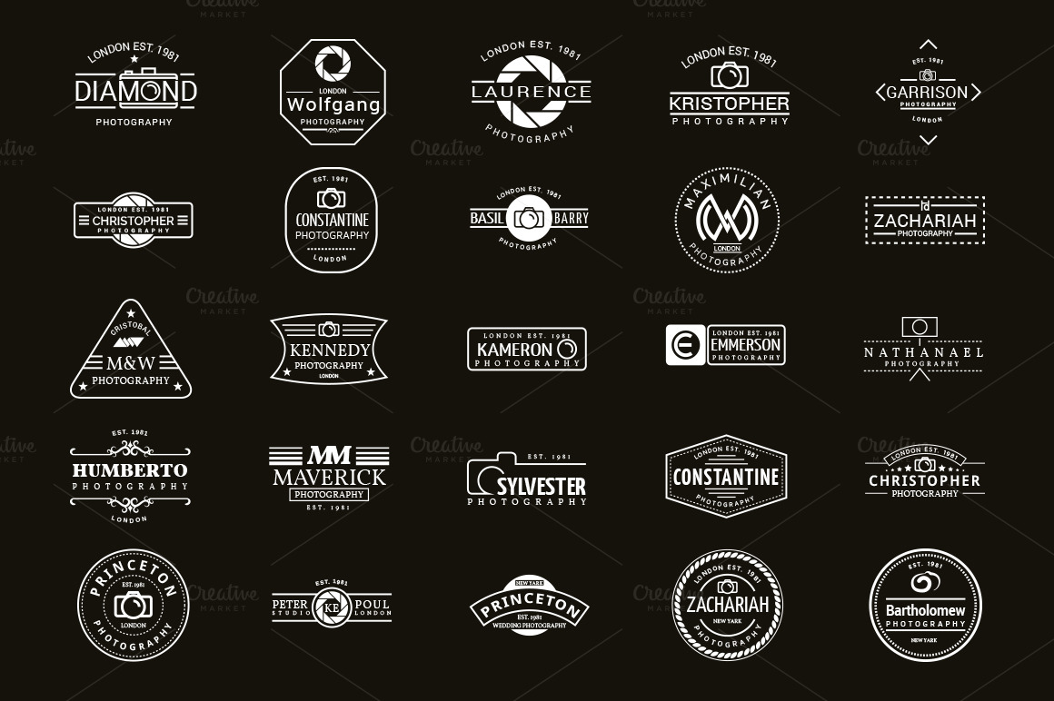 25 Logo Designs For Photographers ~ Logo Templates on ...