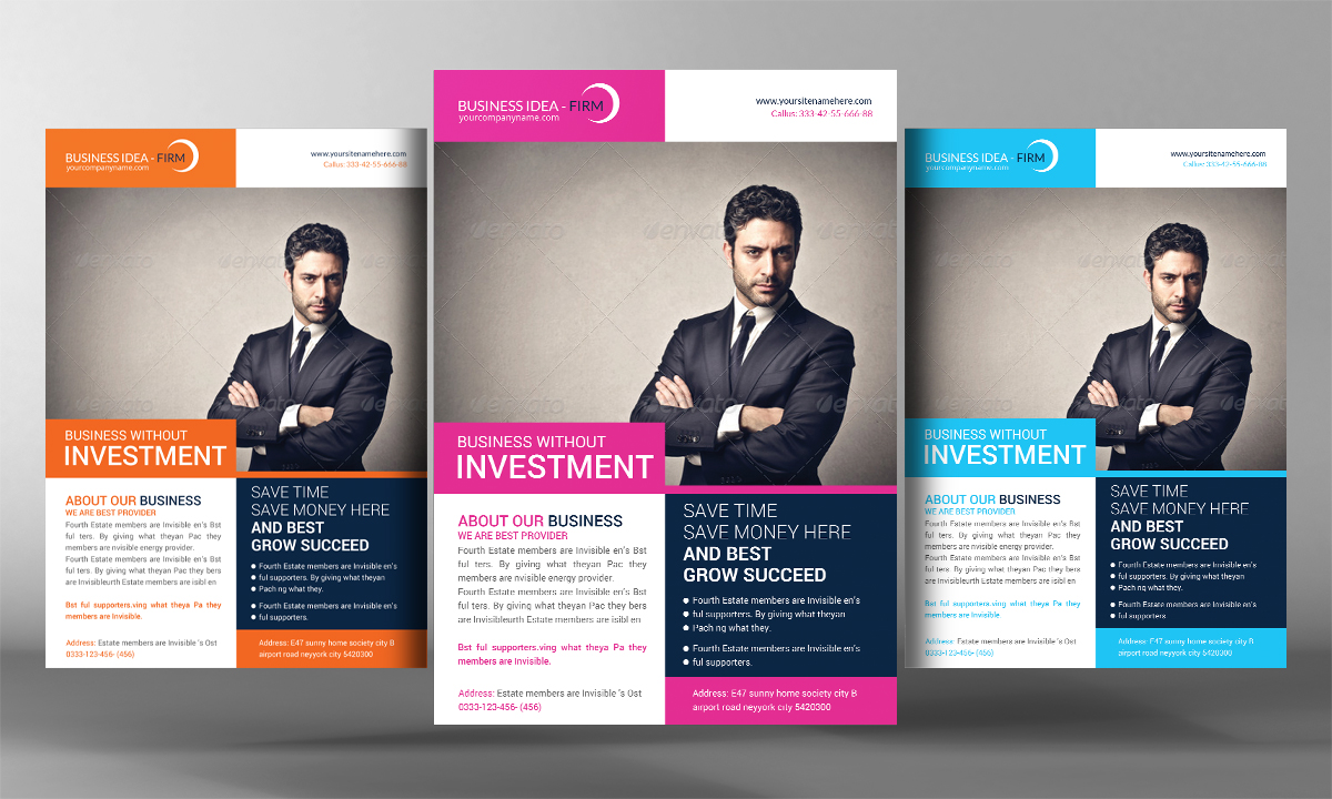 And Minimal Corporate Flyer Template Minimal Corporate