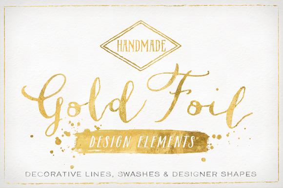 Gold Foil Design Elements Amp Vectors Objects On Creative