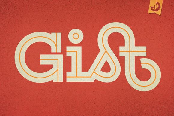 gist font family display fonts on creative market. Black Bedroom Furniture Sets. Home Design Ideas