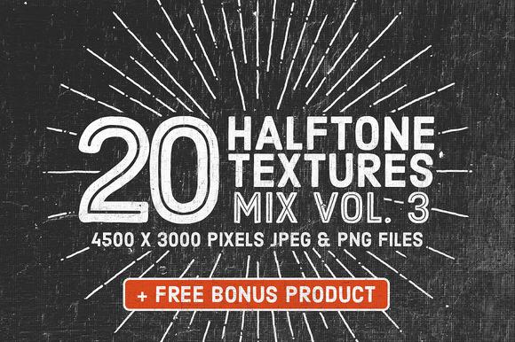 20 Halftone Textures Mix Vol. 3 - Textures