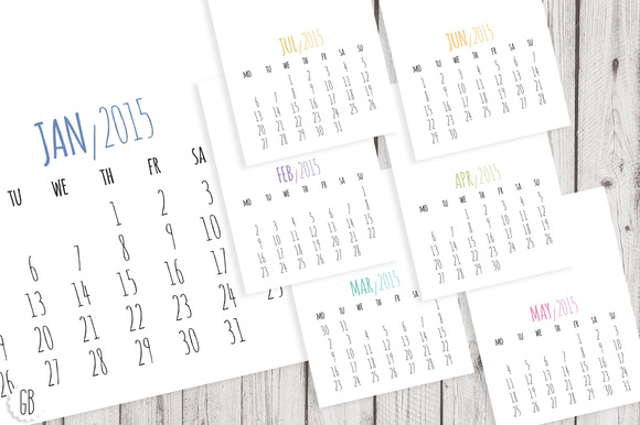 Diy Calendar Template : Calendar diy template stationery templates on