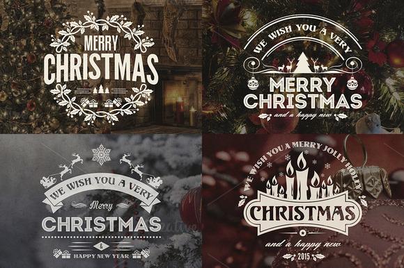 Christmas & New Year Badges & Labels - Logos - 1