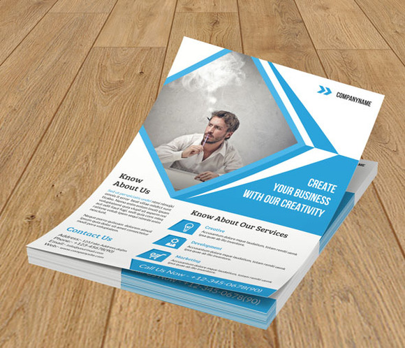 Corporate Flyer template - 2 color