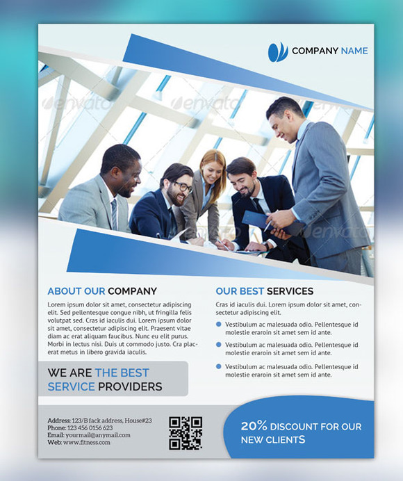 Flyer template for business